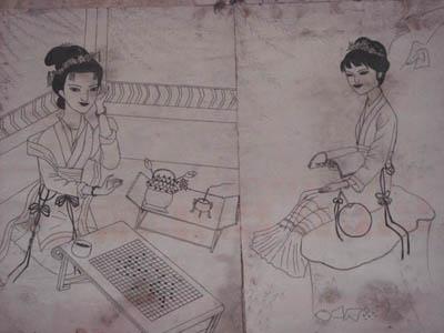 初学古装美女铅笔画